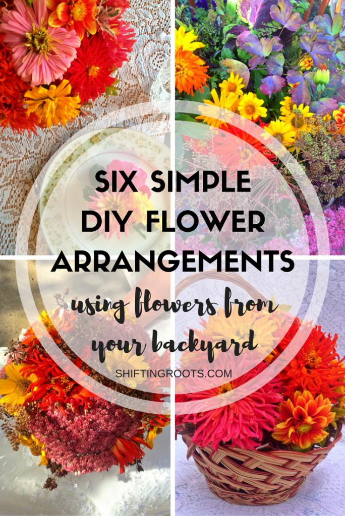 six-simplediy-flowerarrangements
