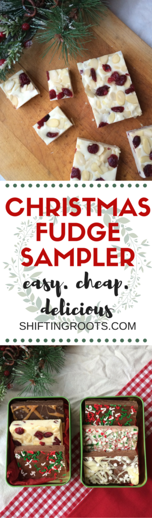 Need a quick and easy Christmas gift that's perfect for everyone on your list? Christmas fudge sampler to the rescue! It's a cheap and simple home made gift that you can make in just 30 minutes.