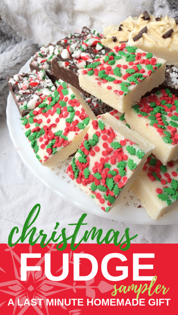 This last-minute easy fudge recipe saved my more than once when I needed an easy homemade Christmas gift. #christmas #fudge #homemade #easy