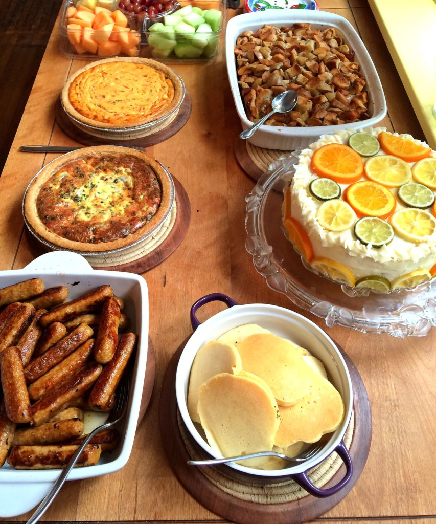 The brunch spread. Yum!