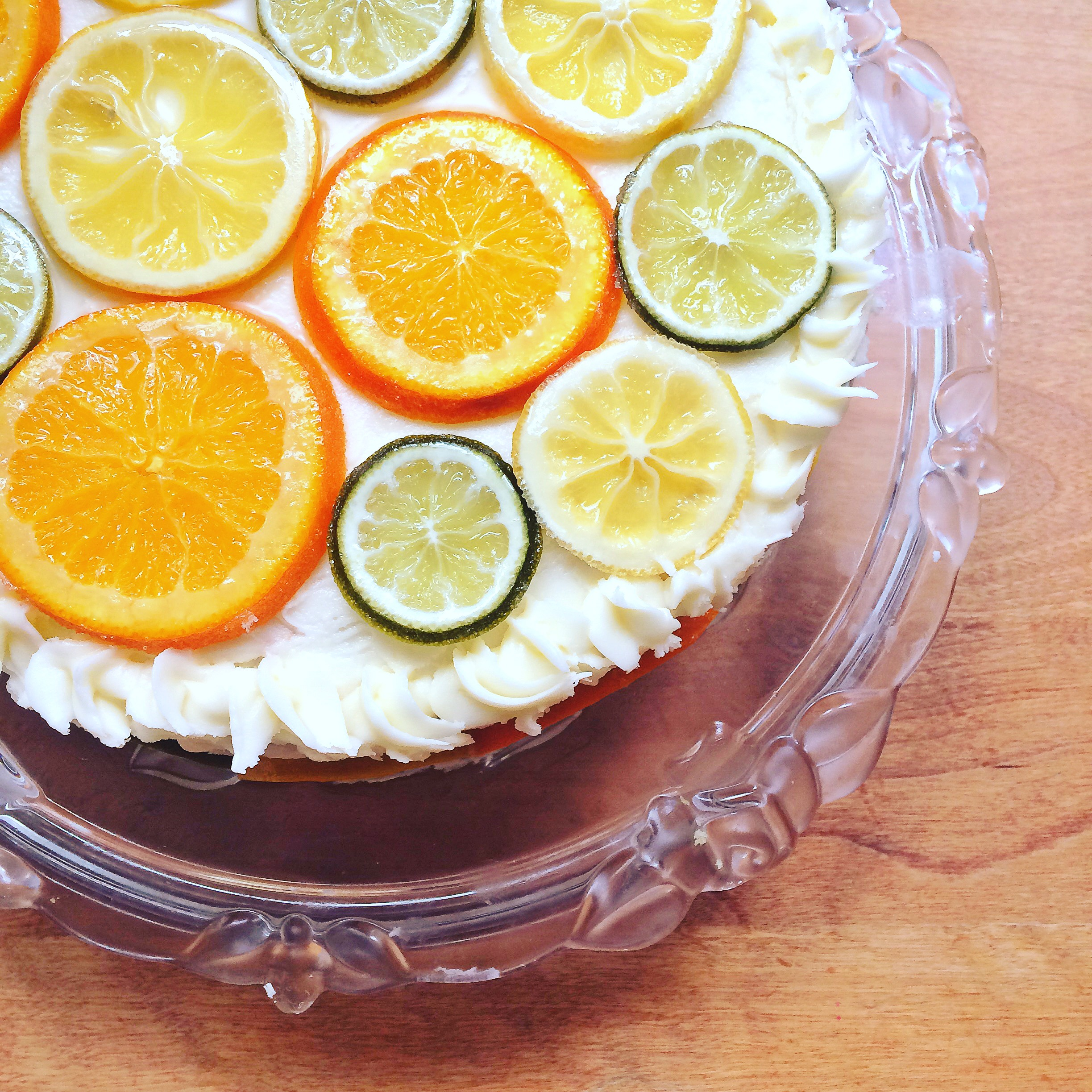 Lemon cake with candied citrus & lemon buttercream