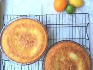 Lemon cake with candied lemons and lemon buttercream