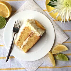 lemon cake with candied citrus and lemon buttercream