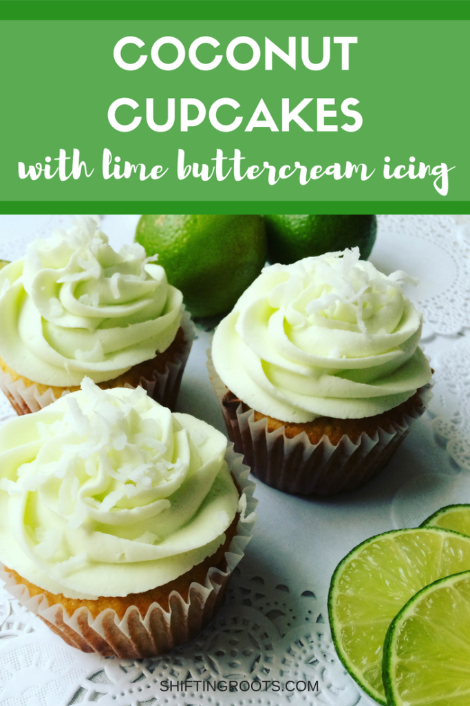 coconut cupcakes with lime frosting
