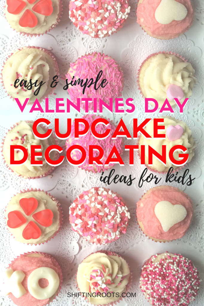 Need some last-minute Valentines Day cupcakes for school? Your kids will love these cute and easy cupcake decorating ideas with sprinkles and candy that are perfect for the classroom. #valentinesday #cupcakes #forkids #forclassrooms #pink #sprinkles #candy #valentinescupcakes
