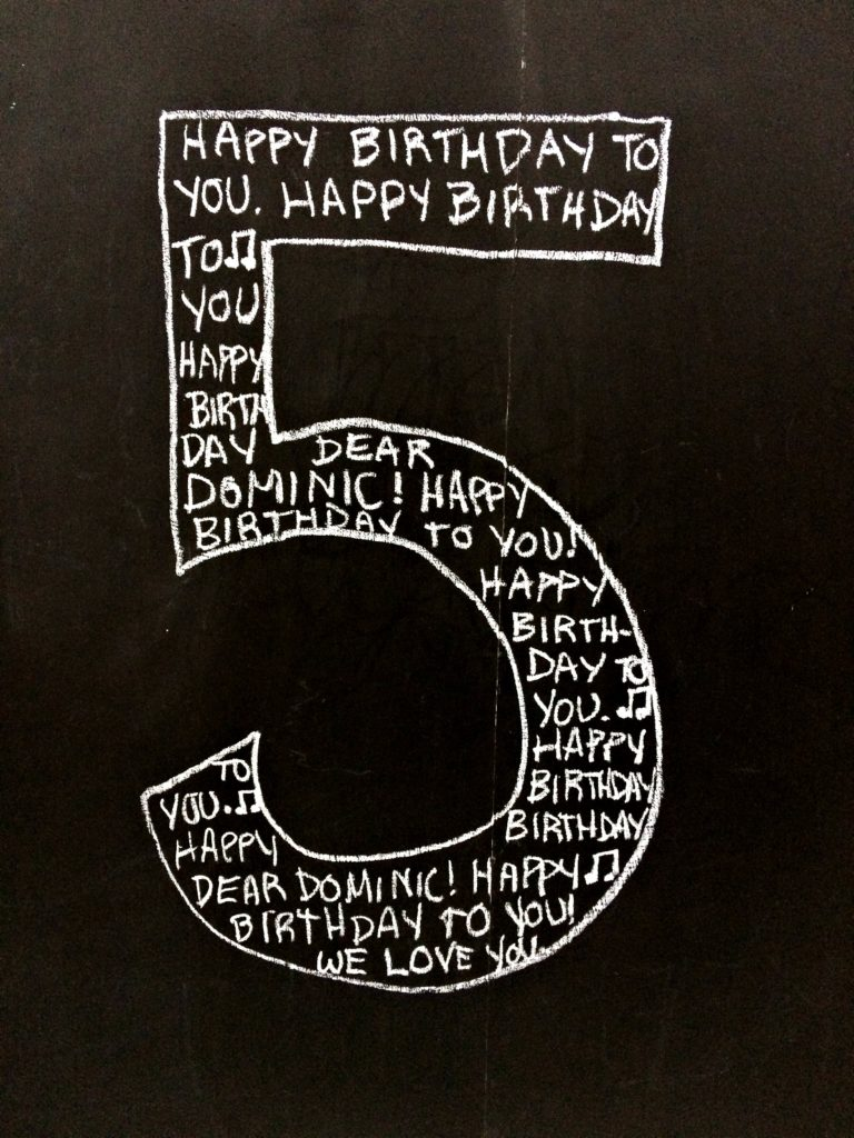 Easy Chalkboard Birthday Sign