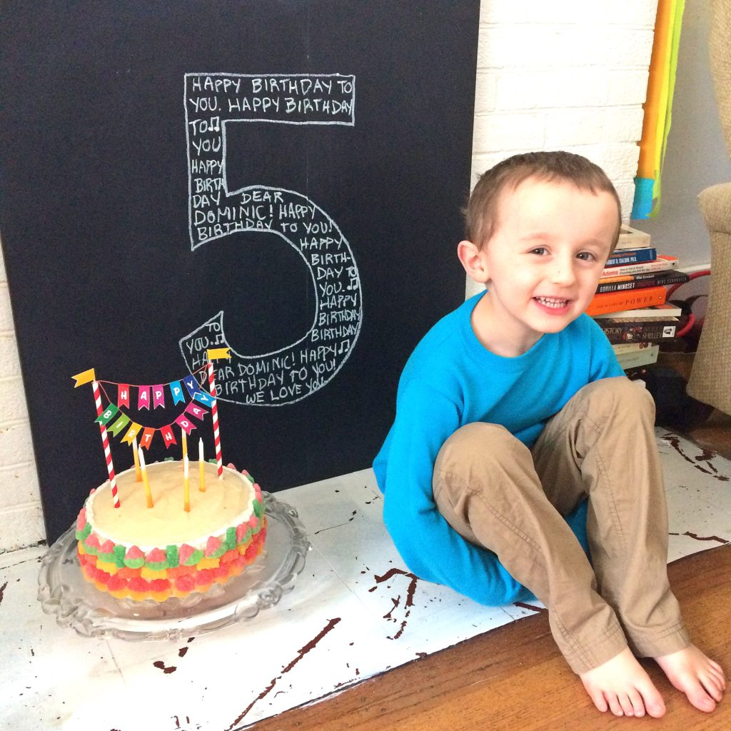 Easy Chalk Board Birthday Sign