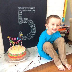 Easy Chalk Board Birthday Sign