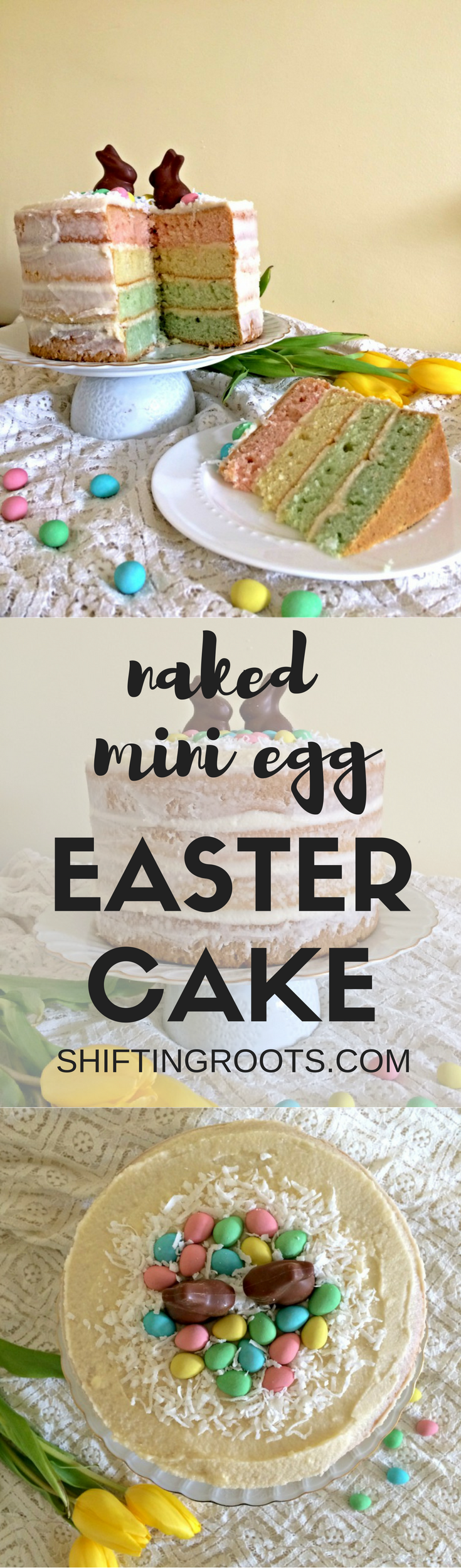naked mini egg easter cake