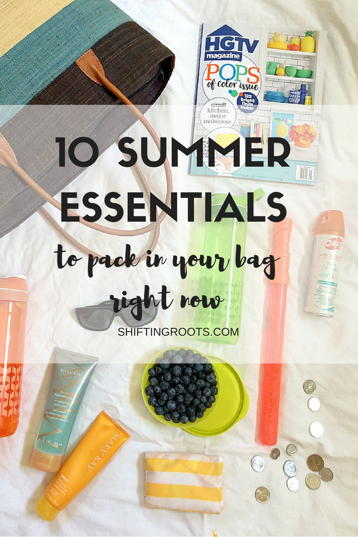 Avoid the mess and stress this summer with one grab and go bag full of all your summer essentials.  Perfect for keeping your kids happy and safe during all those trips to the park or beach.