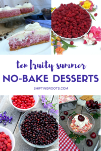 Temperatures are soaring and there's no way you're turning on the oven to make something. Check out these 10 no-bake fruity summer desserts. Delicious and easy recipes that will have you in and out of the kitchen in no time! My favourite? The no churn ice creams!!
