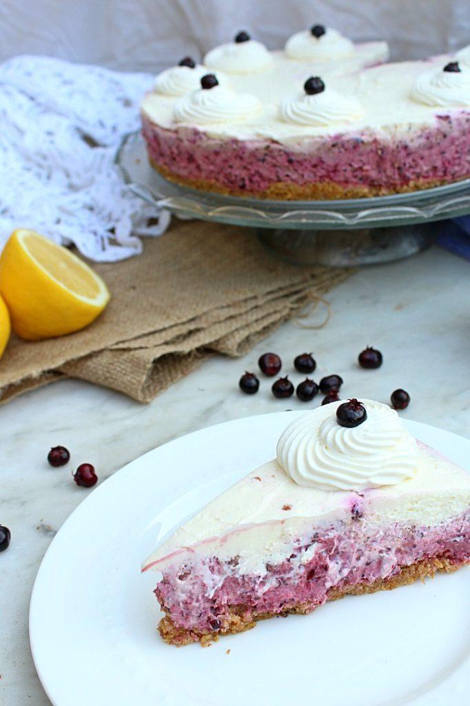 Make this beautiful no bake Saskatoon berry cheesecake when you want a summer dessert recipe to impress your friends.