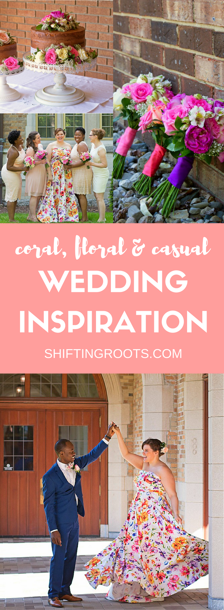 Have you ever been to a perfect wedding? While that may not exist, these nuptials came close!  Get inspired by this gorgeous blush pink, coral, navy blue, and floral spring wedding.