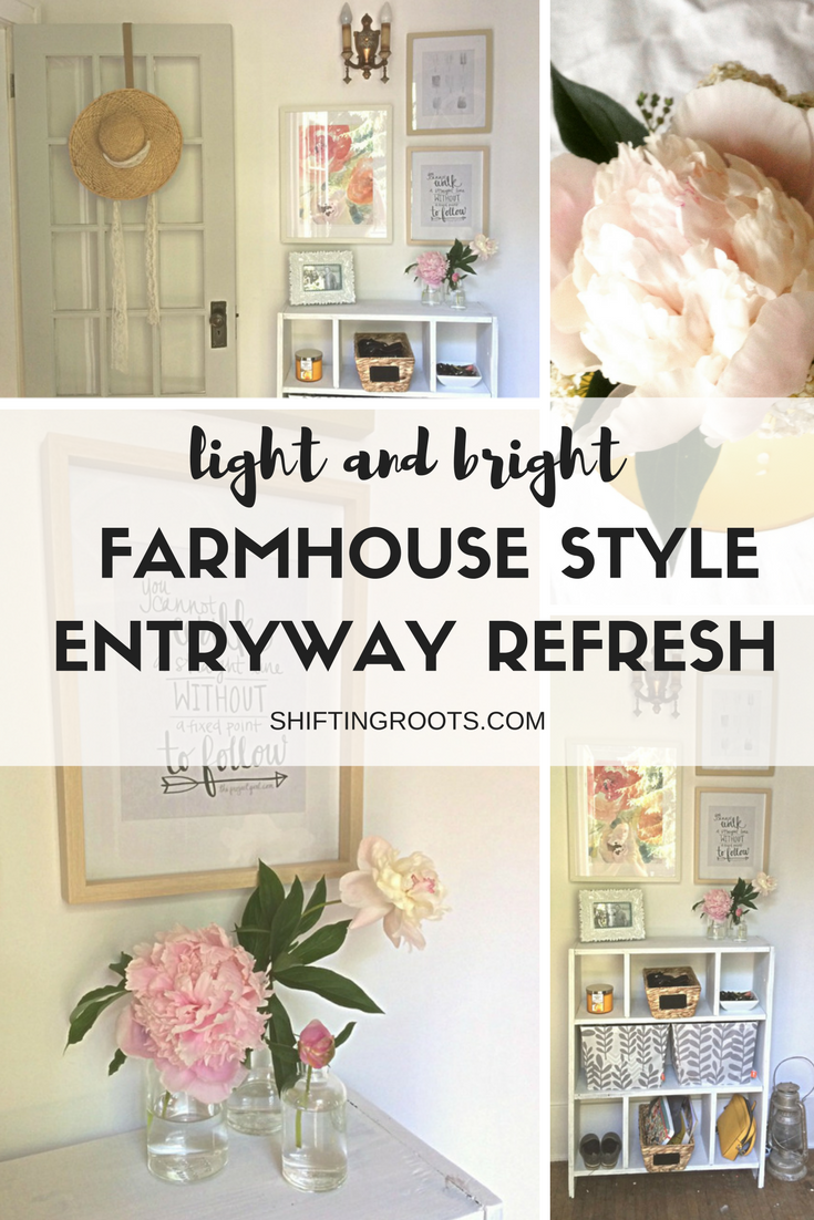 I recently refreshed the old and dingy entryway of my 1929 character house and made it over into a light and bright farmhouse style entryway. There's nothing like a beautiful makeover to greet you after a long day out.