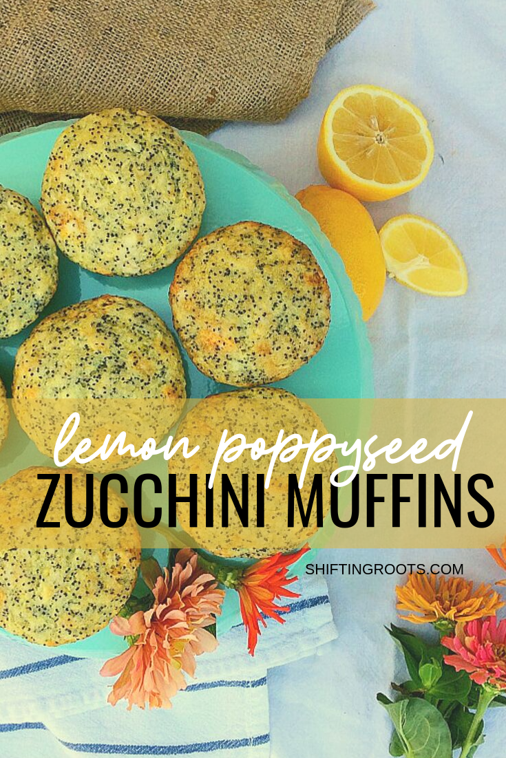 Don't pawn your extra zucchini off on unsuspecting strangers--make lemon poppyseed zucchini muffins instead!  Delicious as an afterschool snack, in school lunches, or with coffee. #zucchini #lemon #poppyseed #muffins