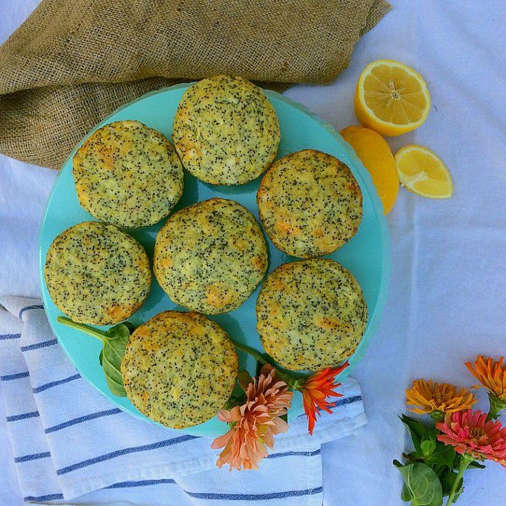 Lemon Poppyseed Zucchini Muffins