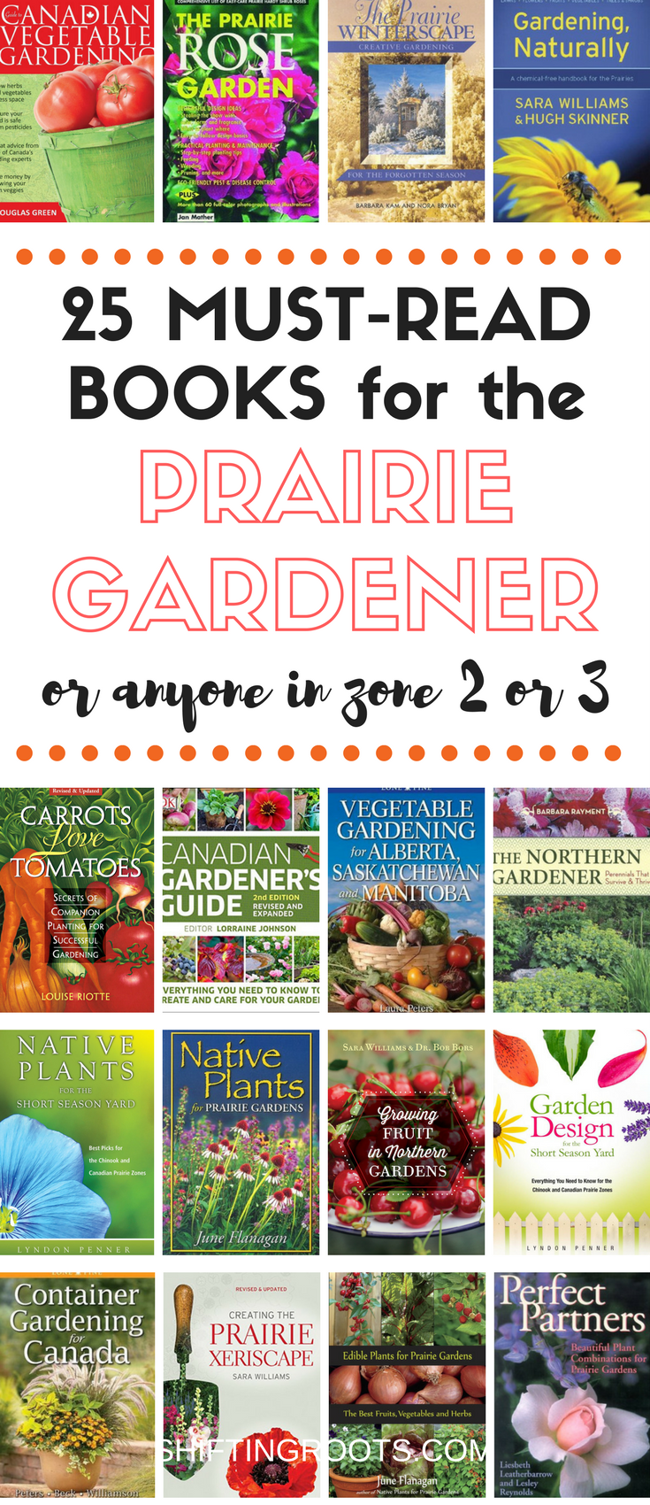 Finally, gardening books written just for the Prairies!  If you're a gardener in Alberta, Saskatchewan, or Manitoba, (or live in USDA hardiness zones 2 or 3) you must read these books!  Advice on vegetable and flower gardening, native plants, companion planting, landscaping, and so much more.