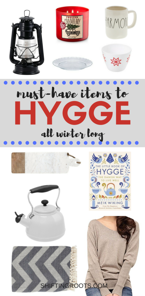 How do you hygge? Here's ten plus items to help you find that happy, warm, and cozy feeling all winter long. Most can be found on Amazon and delivered with Amazon prime, just in time for Christmas! #winter #hygge #warmandcozy #home #forthehome #christmasgiftguide #christmas #christmasgifts #holiday #rustic #farmhouse #farmhousestyle