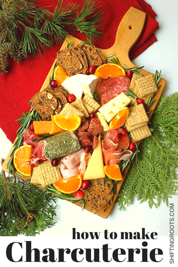 Every wondered how to make a simple and easy charcuterie board? I'll show you how to combine meats, cheese, fruit, and jam into a lovely platter that's perfect for a Christmas party, New Year's, Thanksgiving, or anytime! It's so simple anyone can do it. #charcuterie #appetizer