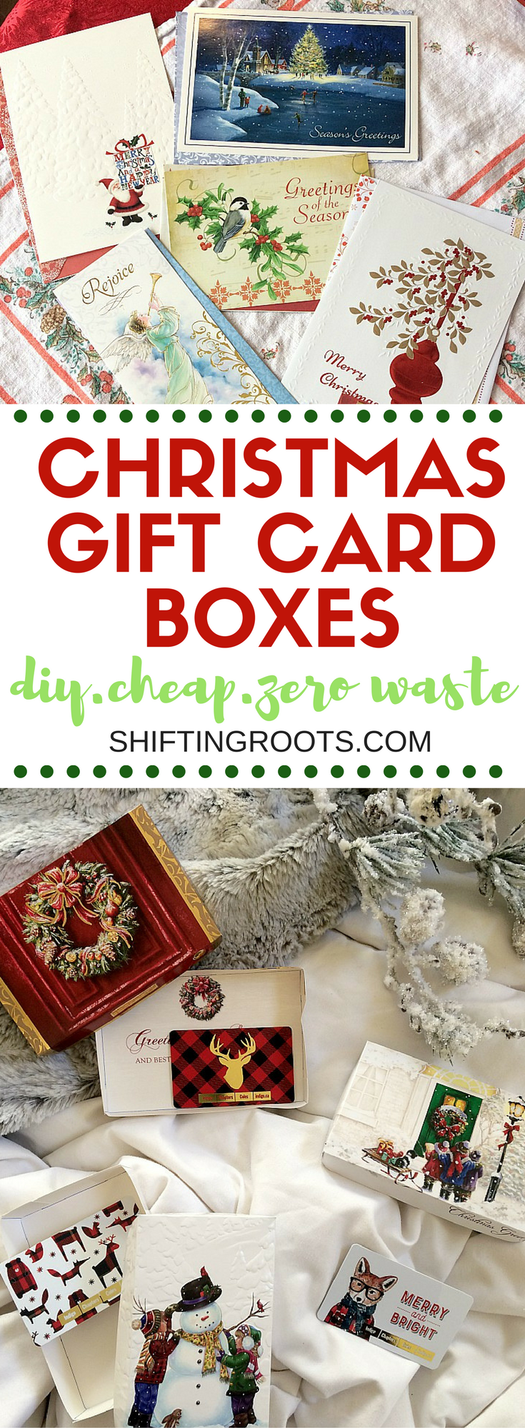 Learn how to make DIY Christmas gift boxes on a budget.  This fun craft is the perfect packaging for your stocking stuffers and gift cards--especially the teacher appreciation ones, (hint hint)!  Make as many as you want for the holidays!  It's budget friendly, zero waste, and really easy! #christmas #holiday #christmasdiy #holidaydiy #teachergift #giftcardholder #tutorial #stepbystep #crafting #giftcard