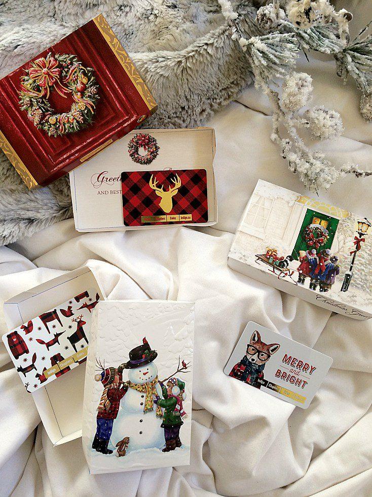 How To Make Diy Christmas Gift Card Boxes