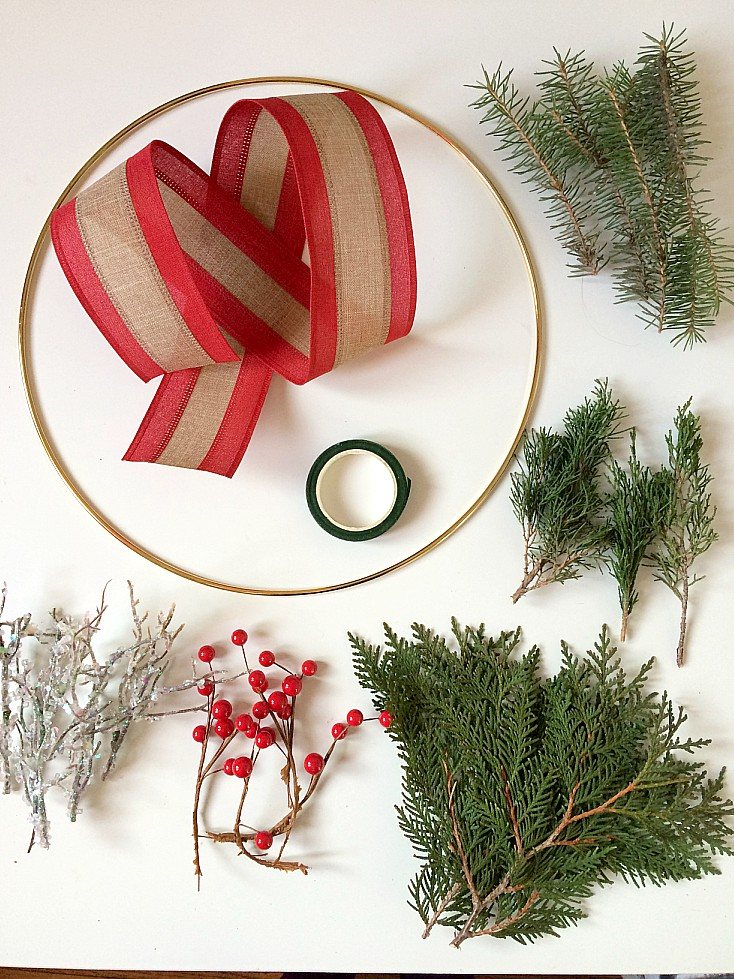 Easy To Make Rustic Minimal Diy Christmas Wreath