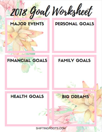 Family goal planning worksheet free printable! Messy & mine.