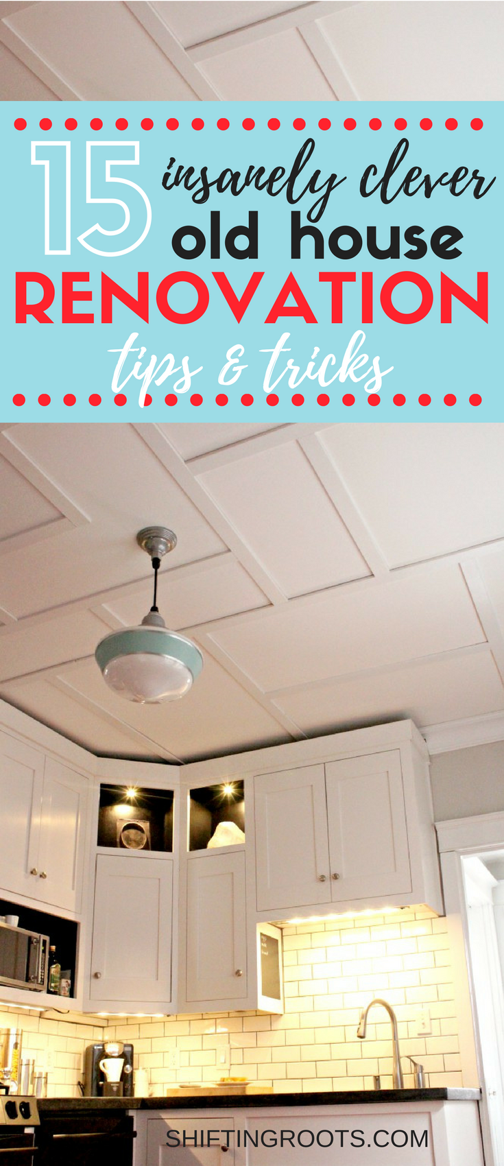 Renovating an old house can get frustrating really quick.  Learn about 15 remodelling tips and tricks that can make the interior of your character home work for you.  Lots of ideas and clever renovation solutions. #oldhouse #characterhome #renovation #remodelling #renovationhacks #tipsandtricks #houserestoration #designsolutions #homedesign