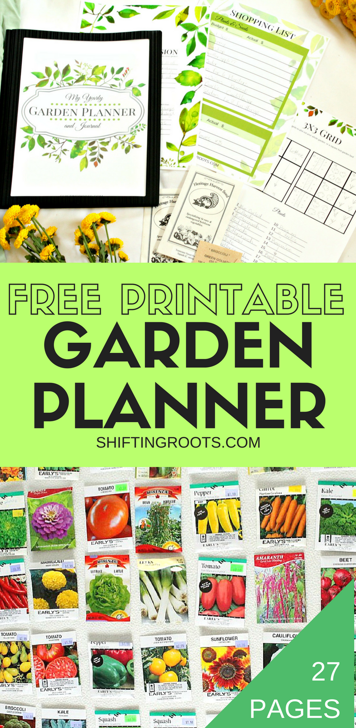 picture relating to Free Printable Garden Planner titled No cost PRINTABLE Backyard PLANNER PIN 3-2