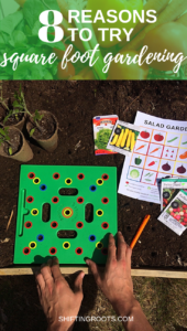 Gardening in a small space? Here's why you should try square foot gardening! It's the perfect way for beginners to start a vegetable garden in a backyard. #squarefootgarden #smallspace #gardening