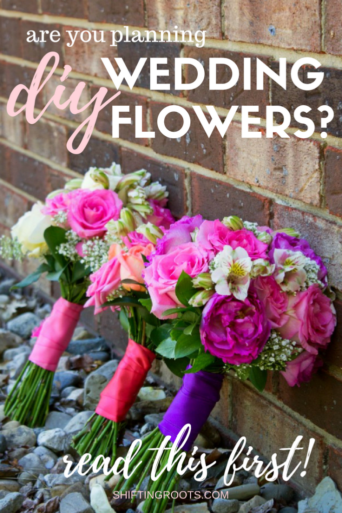 Want to save money with DIY Wedding Flowers? Here's what you need to know if you're growing your own, plus links to how to make centrepieces, bouquets, boutonnieres, and more for the wedding. #diywedding #frugalwedding #savingmoney #wedding #weddingflowers