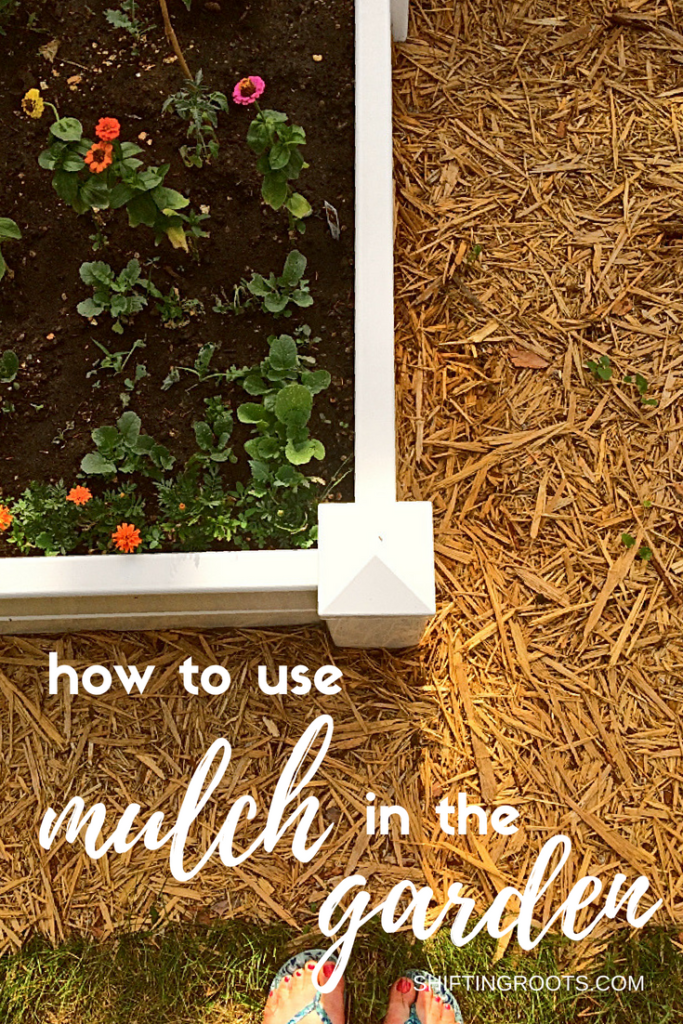 Creating a low maintenance landscape in your garden, backyard, front yard, or flower bed is so easy with mulch!  I'll show you how to lay mulch as an alternative to constant weeding. #gardeningtips #gardening #mulch #mulching #weedcontrol #weeds