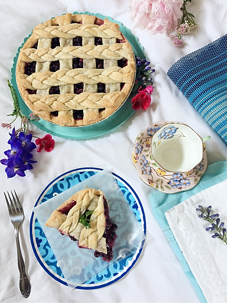 The best classic Saskatoon Berry Pie recipe. An easy to make summer dessert. #summerdessert #saskatoonberrypie