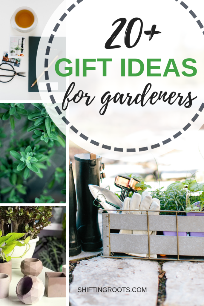 It can be tricky to find good gift ideas for gardeners that aren't just ho-hum gardening gloves!  This gift guide has over 20 stylish and practical ideas for women, men, and kids, along with lots of cheap ideas for those on a budget.  Perfect for Christmas and holiday 2018! #christmas #giftguide #giftideas