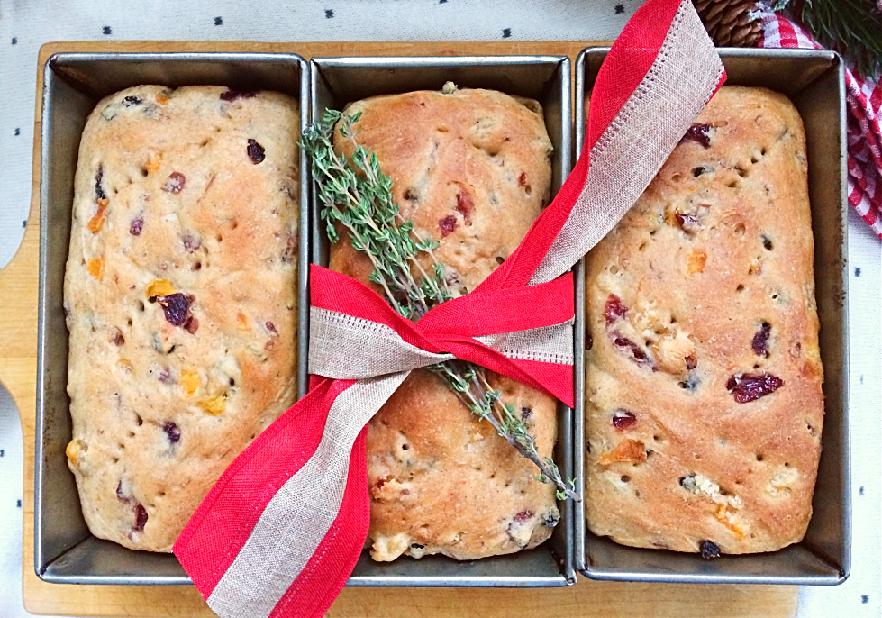 Hate fruitcake?  You'll love this German-Canadian hybrid of hutzelbrot and stollen.  It's a delicious Christmas fruit bread recipe in a loaf pan that your friends and family will actually want to eat this holiday.  It makes a lovely homemade gift or Christmas breakfast. #fruitbread #christmas #bread #hutzelbrot #stollen