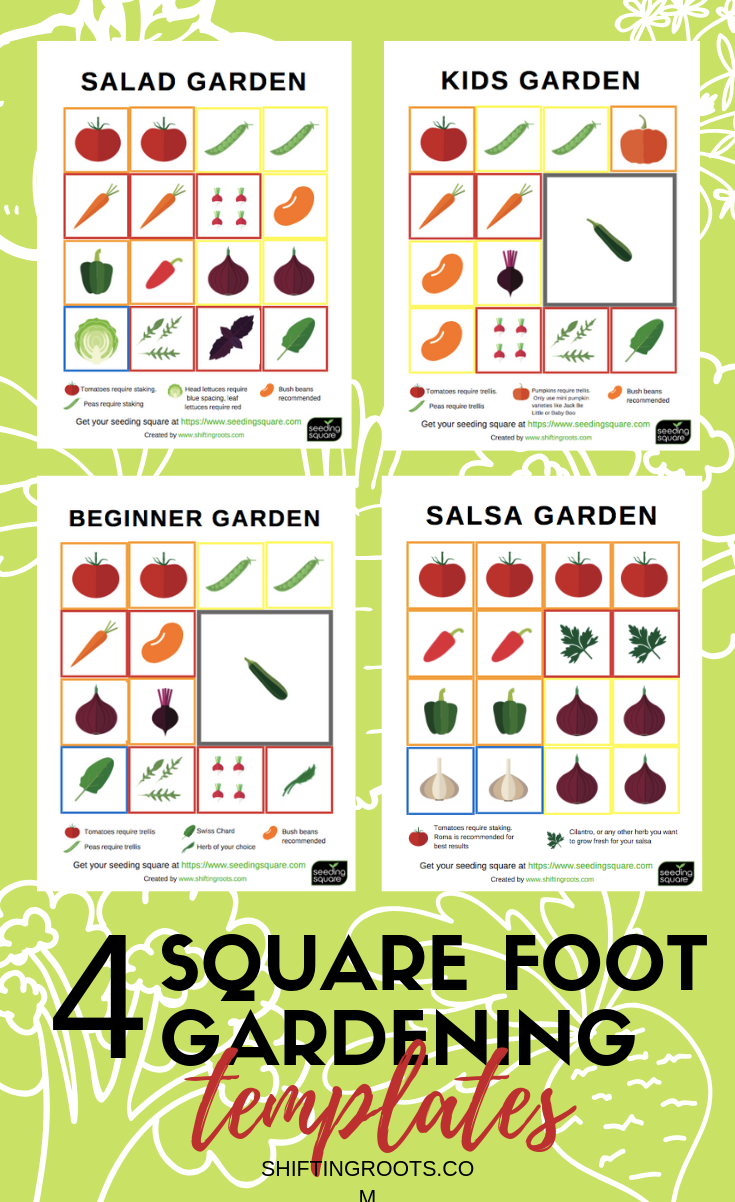 Get Your Four Free Downloadable Printable Square Foot Gardening Templates