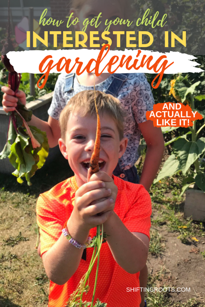 Do you wish your child would like to garden with you?  It doesn't have to be impossible.  Even if you're a beginner, you can grow a vegetable or flower garden with your kid and have them like it!  Here's my best tips and activity ideas to get you started. #gardening #kids #ideas #tips #activities
