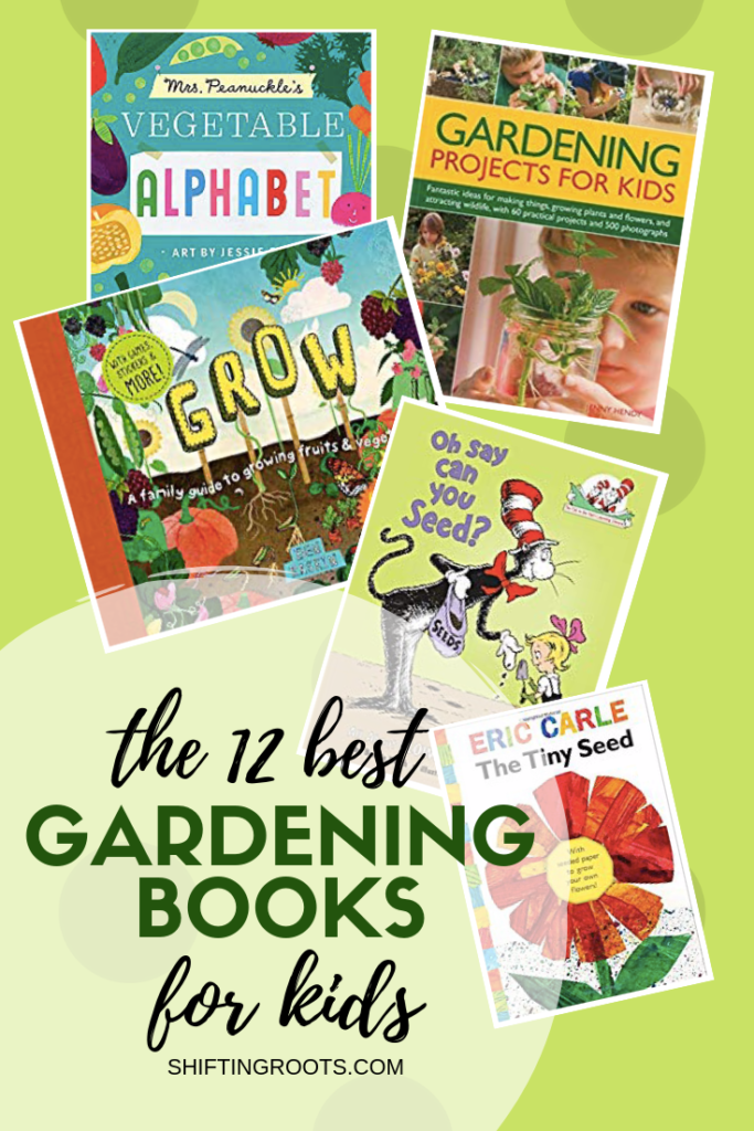 Want to teach your kids about growing a garden, but don't know where to start?  These 12 books contain the best gardening and outdoor projects, crafts, and activities for babies, toddlers, school age children, and the classroom (or homeschool!!) teachers who teach them. #gardening #books #kids #beginners
