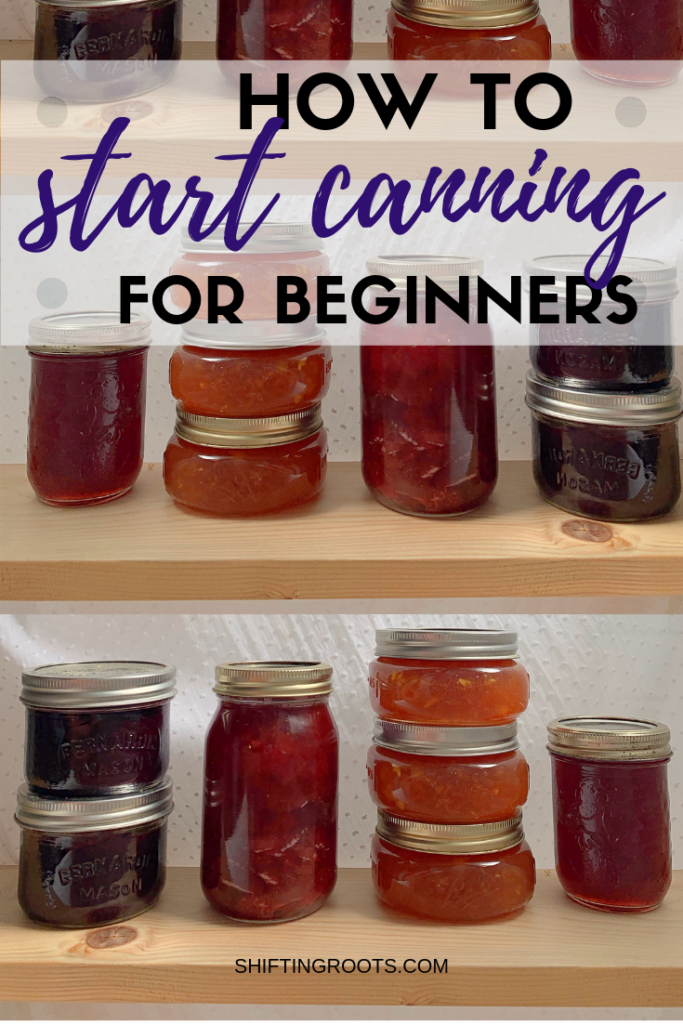 New to Canning?  This guide will show beginners how to to water bath can with tons of little tips and tricks to make the whole process easier.  It's simple to can jams, jellies, tomatoes, salsa, peaches, and more when you use this process. #canning #beginners #tips #hacks #equipment