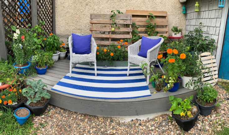Create this Relaxing Garden Room Entirely with Container Gardening