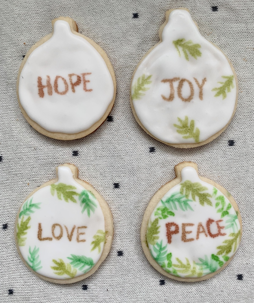 Step by step ornaments with feature words